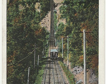 Antique Vintage Postcard A46 Lookout Mountain Incline Railway Chattanooga TN 1930 postmark