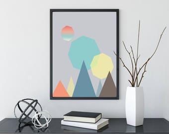 Nursery Neutral Print,neutral nursery prints,nursery prints,neutral nursery decor,mountain nursery,mountain minimalist prints,minimalist art