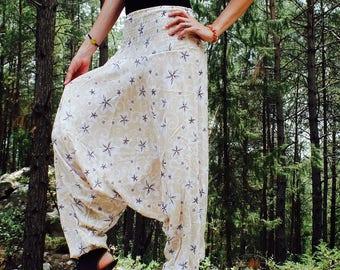 Harem pants, women harem pants, boho pants, yoga pants, aladdin pants, baggy pants, festival clothing, psychedelic clothing, rave clothing