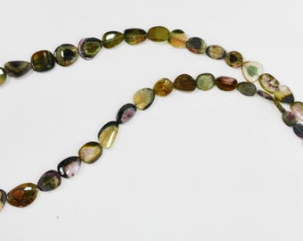 Natural Multi Tourmaline Slices Necklace / 5. 0-10.0mm / Tourmaline Slices beads / 18 inch