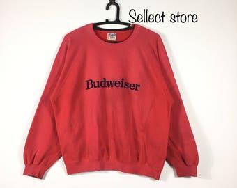 Free Shipping Vintage 90s BUDWEISER sweatshirt