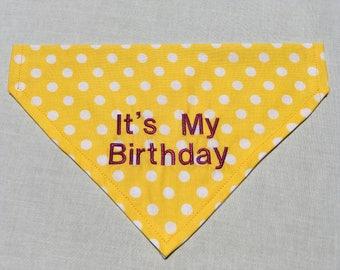 It's my Birthday Dog Bandana - Over the Collar