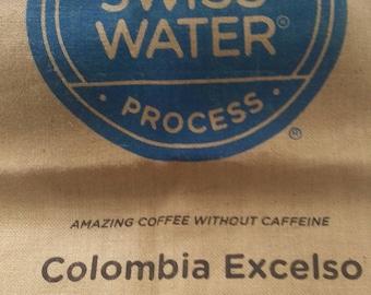 Swiss Water Process Coffee Burlap Bag (Decaf)