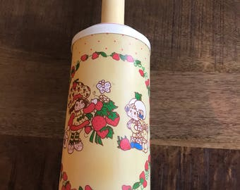 Vintage 1980's Strawberry Shortcake Lamp with Apricot and Hopsalot Bunny