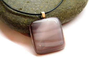 Pendant hand made from stained glass -  Fused Glass Pendant - Glass Necklace - Girlfriend gift