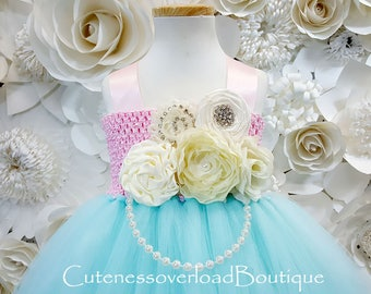 Aqua Flower Girl Tutu Dress-Aqua Tutu Dress-Aqua Tutu Dress.Flower Girl Tutu Dress-Aqua Wedding Tutu Dress-Aqua Birthday