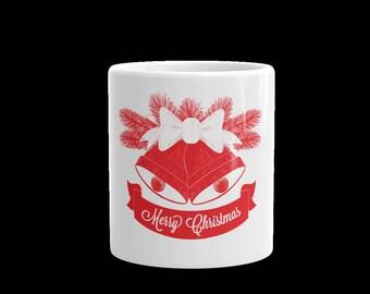 Merry Christmas Coffee mug-white ceramic Christmas coffee or tea cup-gift mug-Christmas holidays-11 oz mug-15 oz mug