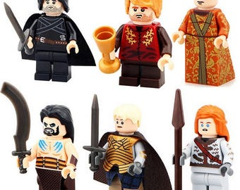 Batch of 6 Lego figures Game of Thrones customized
