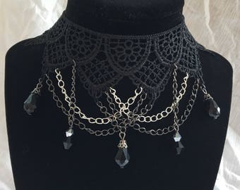 Black Lace Vintage Inspired Choker