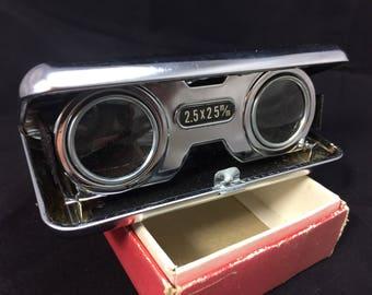 Vintage Pocket Binoculars, Original Box. Collectible.