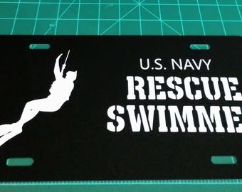 USN Rescue Swimmer License Plate