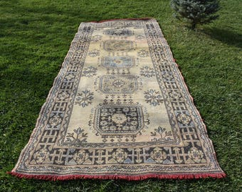 Runner Area Rug Free Shipping 4.6 x 10.7 feet Vintage Runner Area Rug Bohemian Rug Area Rug Nomadic Rug Good Condition Runner Area Rug DC927