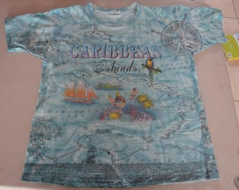 very neat Caribbean Islands vintage t-shirt