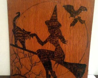witch on her broomstick