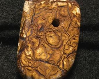 Pendant , polished Australian Boulder opal