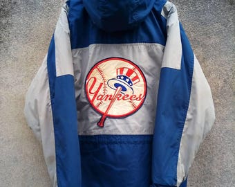 Rare! NEW YORK YANKEES Major League Baseball Big Logo Jacket