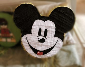 Full size pull-string Mickey Mouse piñata, 12 inches