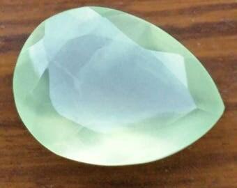 Prenite13cts pear cut 20×15mm beautiful gemstones