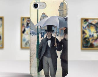 "Gustave Caillebotte, ""Paris Street, Rainy Day"". iPhone 7 Case Art iPhone 6 Case iPhone 8 Plus Case and more. iPhone 7 TOUGH cases."