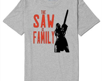 The Saw is Family Texas Chainsaw Massacre 2 Movie Unisex T Shirt Many Sizes Colors Custom Horror Halloween Merch Massacre