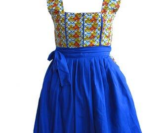Women's African Bavarian Dirndl Dress / Oktoberfest