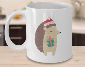 Hedgehog Christmas Mug - Hedgehog Gift -