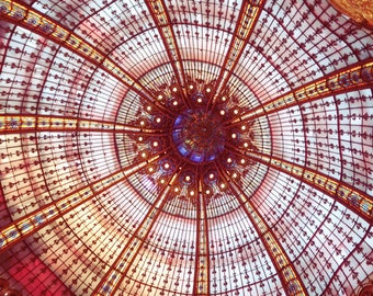 Galeries Lafayette Stained Glass Photography, Paris Photography, Galeries Lafayette Print, Paris Art Print, Wall Art, Travel Photography