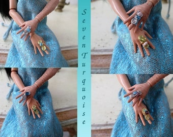 Monster High and other fashion dolls handmade ring.