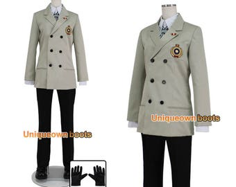 Men's Persona 5 Goro Akechi cosplay costume outfit cosplay costume with gloves