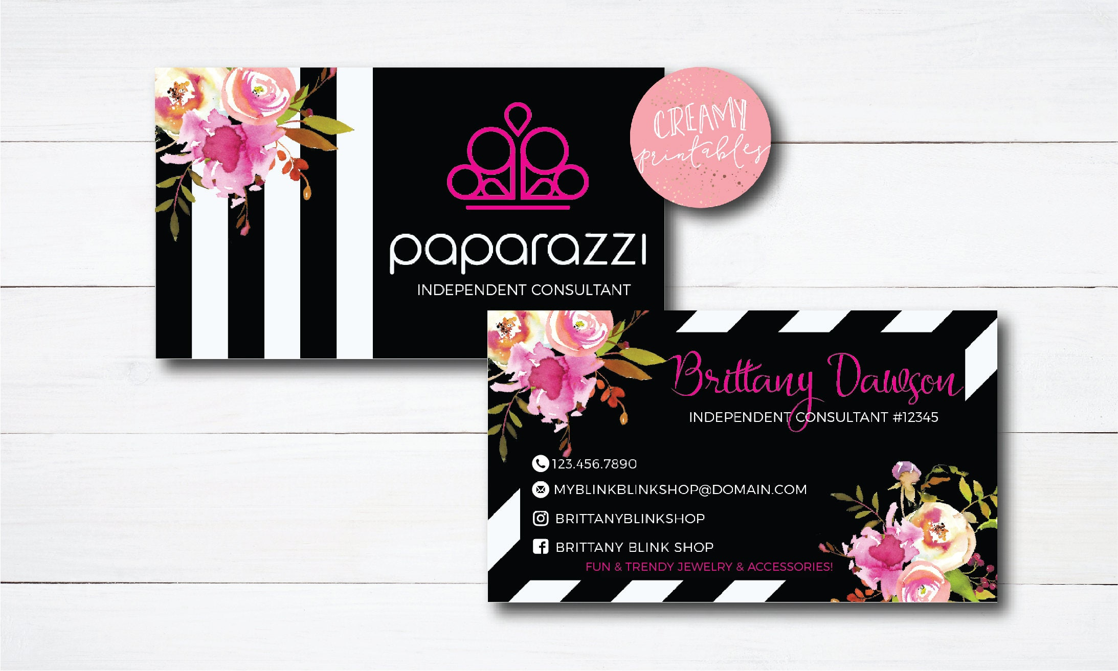 paparazzi business cards free personalized paparazzi jewelry