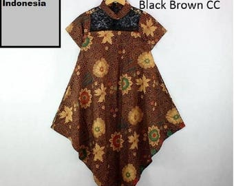 Dress Floral Batik Indonesia, ethnic batik indonesia,Rebeca Dress