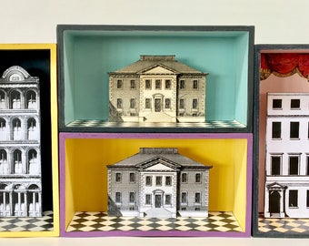 House Diorama (Pink) OOAK
