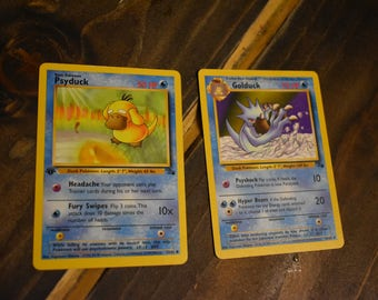 Pokemon Trading cards Golduck & Psyduck
