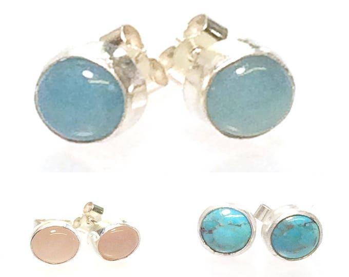 Stone Set (Choose Options) Stud Earrings (2)