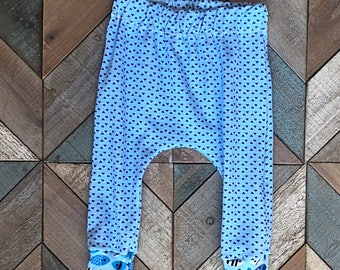 READY TO SHIP- Harem Pants 3-6month