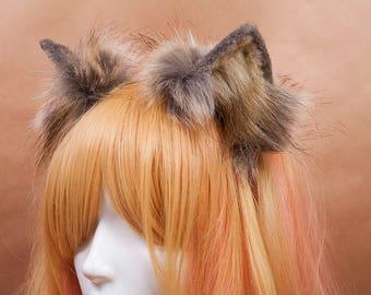 Wolf Fur Ears Headband
