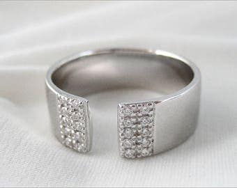 Ring open Sterling Silver 925/1000th 52,54,56,58.