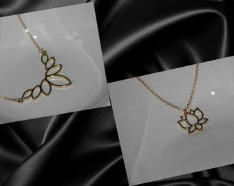 Gold Lotus Flower Necklace, Flower Necklace, Spiritual Necklace, Yoga Necklace, Zen Necklace, Lotus Flower Jewelry, Blooming Flower, Flowers