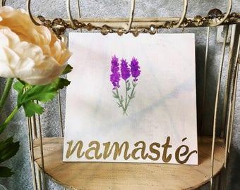 Namasté Handpainted Canvas