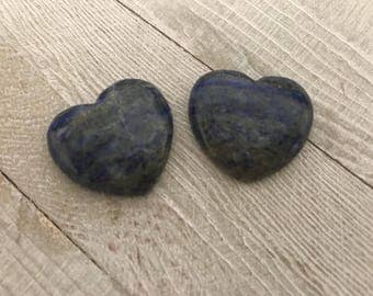 Lapis Lazuli Heart|Reiki|Meditation|Crystal Grid|Throat Chakra|Wedding Gift|Protection|Healing Crystal Heart|Under 15|Blue|Wicca|Pagan