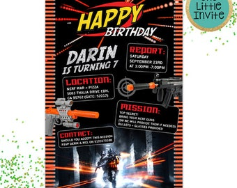 Dart Invitation // Dart Birthday // Dart Invite // Dart Invites  // Dart Birthday Invitation // Dart War // Dart Wars Battle