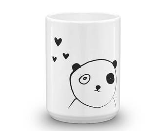 Cute panda with heart Mug