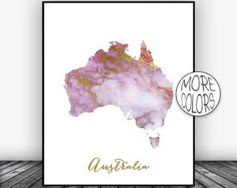 Australia map Etsy