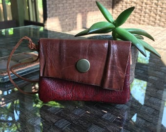 Coin Purse, Leather Coin Purse, Leather Pouch, Change Purse, Business Card Holder for Women