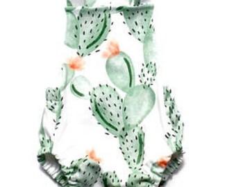 Cactus Romper|Baby Romper|Cactus Playsuit|Sunsuit|