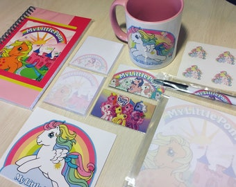 My Little Pony Deluxe Stationery Set (Notebook, Stickers, Magnets, Post-Its, Notepad, MUG)
