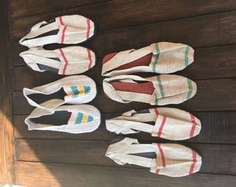 LAST 4 PAIRS !! Size 38 EU/ Alpargatas -  Espadrilles - Espartenas - Women's Shoes - Summer Shoes - Beach Footware - Artisan Shoes - Handmad