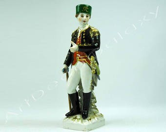 Antique KPM Porcelain Figurine of Prussian Miner