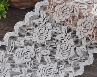 Lace elastic white lace by the yard