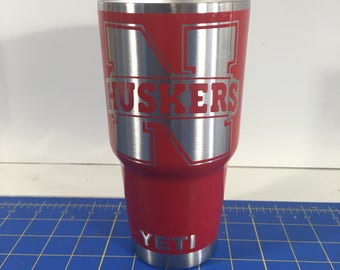 Huskers Custom Powder Coated Yeti 30oz